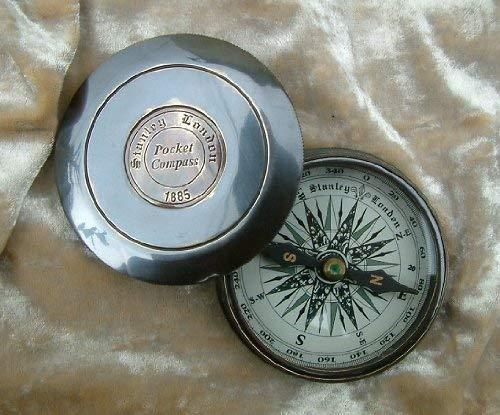 Messing antik Finish Robert Frost Gedicht Maritime Kompass (bo55a) -