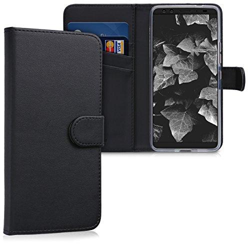 kwmobile HTC U12+ / U12 Plus Hülle - Kunstleder Wallet Case für HTC U12+ / U12 Plus mit Kartenfächern & Stand