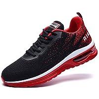 MEHOTO Mens Tennis Walking Shoes Sport Air Fitness Gym Jogging Running Lightweight Sneakers BlackRed 11 D(M) US