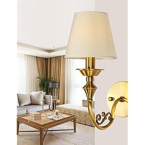 Habitación Classic KMDJ, lámparas de pared metálica sencilla Candelabro de Pared de Salón Bar Cafetería Balcón Pasillo Lampara de pared ,