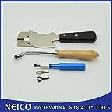 Multi Ranuradora de mano con cuchillo de media luna y borde de Vinilo guía para vinilo suelo soldadura Kit de herramientas de instalación