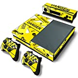 NoveltyThunder� - Skin Sticker Cover For For Xbox One 1 Console Decal Set Vinyl + 2 Controller Skins + Kinect (Danger Zone)
