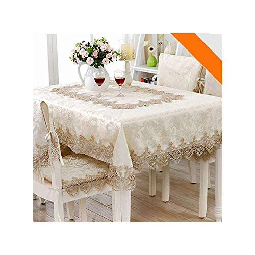HGblossom Jacquard Tischtuch Rechteck Tischdecken Stuhlhussen Lace Tabelle Mikrowellenherd Cover, 1 PC-Stuhl-Kissen