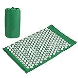 Amzdeal Akupressur-Set Akupressurmatte für Rücken und Nacken in grün