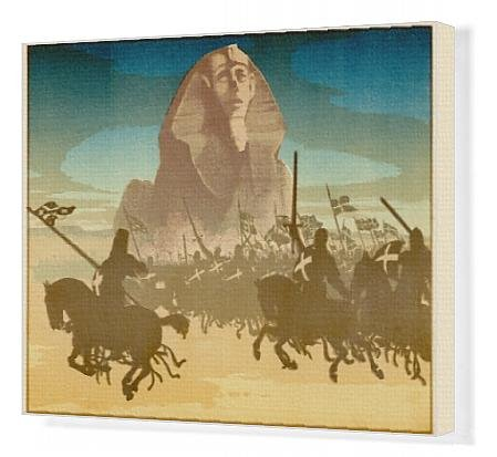 Canvas Print Of Sphinx - Crusades Era