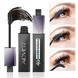 4D Silk Fiber Eyelash Mascara,360 Max Curve Eyelashes Lengthening and Thick, Long Lasting