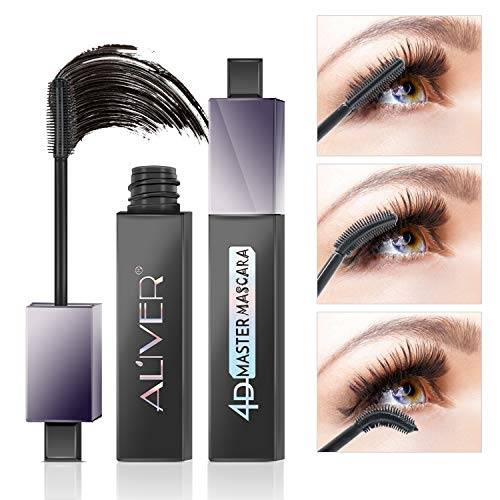 4D Silk Fiber Eyelash Mascara,180 Max Curve Eyelashes Lengthening and Thick, Long Lasting for 12 Hours, Perfect Waterproof Effect -