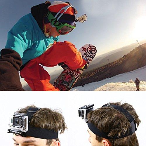 SAVFY® Adjustable Head Strap Mount Belt / Bandeau de Fixation frontale Pour GoPro Hero HD 2 3 3+ 4 - casque tête sangle Ceinture caméra monture fixe serre-tête réglable anti-dérapants