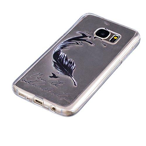 Galaxy S7 Edge Cas, Asnlove Coque TPU Silicone Doux Étui Texture de Transparente Crystal avec Housse Morbido Silicone Ultra Mince Cover Protection de Téléphone Anti-Rayures Antidérapant Case pour Sams Couleur - 15