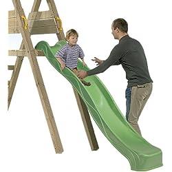 Tobogán Infantil 135 cm BlueRabbit® - Parque Infantil - Color Verde - Plataforma NO INCLUIDA