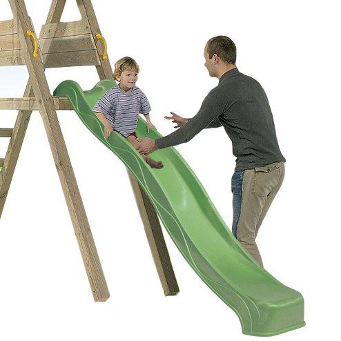 Tobogán Infantil 135 cm BlueRabbit® - Parque Infantil - Color Verde