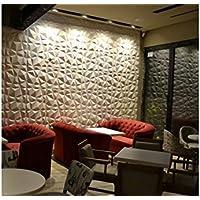 Paneles Decorativos 3D - Diamond - 50X50-12 Paneles = 3 M/2 - FACILES DE Montar - ECOLOGICOS - Pulpa DE Bambu