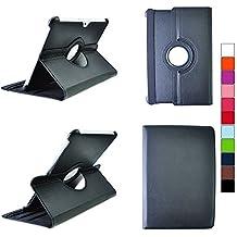 COOVY® SMART FUNDA 360º GRADOS ROTACIÓN PARA SAMSUNG GALAXY TAB 10.1 N GT-P7500 GT-P7501 GT-P7510 GT-P7511, TAB 2 10.1 GT-P5100 GT-P5110 COVER CASE PROTECTORA SOPORTE color negro