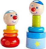 HABA 303854 - Steckspiel Farbzwerge   Holzspielzeug aus 10 bunten Steckteilen mit zwei lustigen Köpfen zum Zusammenbauen   Spielzeug ab 18 Monaten