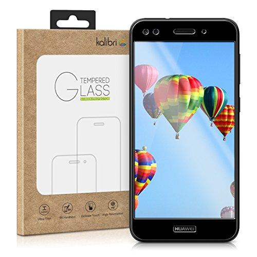 kalibri Huawei Y6 Pro (2017) / Enjoy 7 Folie - 3D Glas Handy Schutzfolie für Huawei Y6 Pro (2017) / Enjoy 7 - Auch für gewölbtes Display