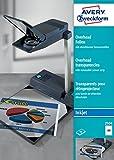 Avery Zweckform 2504 - Transparencias para proyectores (0,11 mm, con banda de detección extraíble, 50 unidades)