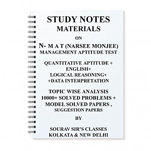 Study Notes Material On NMAT (NARSEE MONJEE) Management Aptitude Test