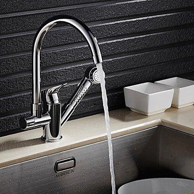 YFF@ILU zeitgenössische Pull-out/-Pull-centerset Pullout Spray Küche Wasserhahn -