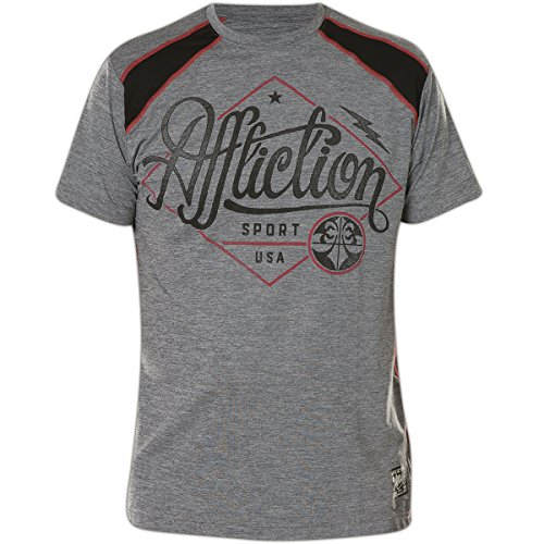 Affliction T-Shirt Sport USA Grau Grau
