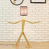 WQRTT® Stehlampe Holz Original 1,1 m Stehlampe Zimmer Stehende Licht Variety Charakter Modellierung Schatten Leinen Weiß Moderne Cool für Schlafzimmer Wohnzimmer , B