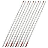 sourcingmap® 10 x 2,4 mm Schweiß Durchmesser 150mm Länge Rote Zer Wolframelektroden de
