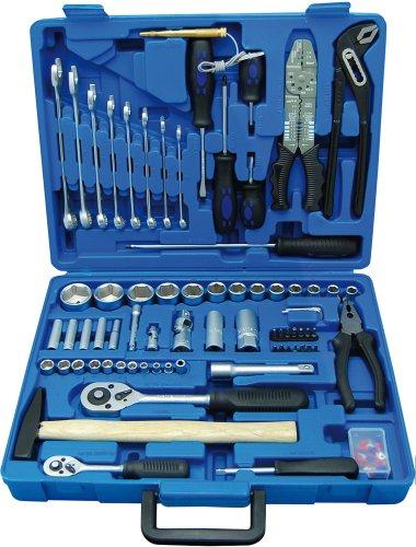 Profistar 99-teilig Werkzeugkoffer, Chrom-Vanadium-Stahl, 6.3 mm, 1/4 Zoll mit 12.5 mm, 1/2 Zoll, A1105199