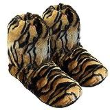 Thermo Sox Original Supersoft Hoch Hausschuhe für Ofen & Mikrowelle, Farbe:Tiger, Schuhgröße:36/40 EU