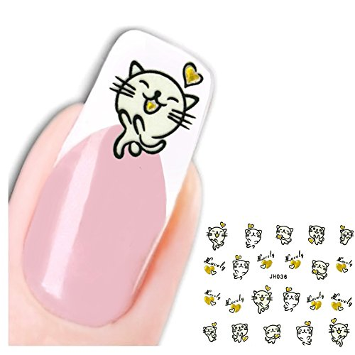 just-fox-3d-stickers-pour-ongles-pied-chat-lovely-hertz-cat-autocollants-nail-art-ongles