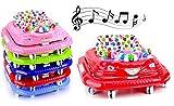 Babywagen Laufhilfe Lauflernhilfe Babywalker Gehhilfe mit Musik (Rosa)