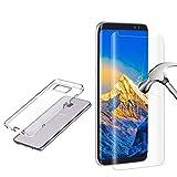 Samsung Galaxy S8 Panzerglas Schutzfolie,+[ Für Samsung Galaxy S8 Hülle ] 3D Displayschutzfolie Displayschutz(Samsung Galaxy S8,Transparent))