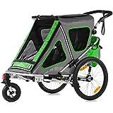 Qeridoo Speedkid2 Remorque-poussette de vélo pour enfant