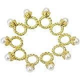 3D Dorado Bling Aleación Perla Manicura Decoracion Uñas Décor UV Gel Acrílico