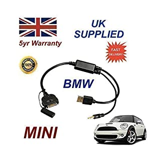 BMW MINI Serie 2007+ Ersatzteil 611204407, iPhone 3GS 4 4S iPod & iPad Konnektivität Audio Kabel