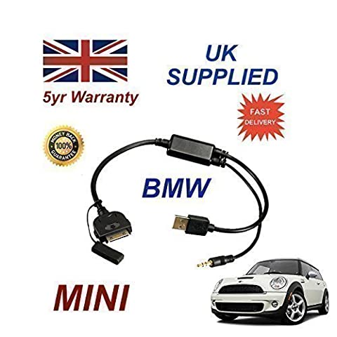 BMW MINI Series 2007+ Replacement part 611204407, iPhone 3GS 4 4S iPod & iPad connectivity audio cable