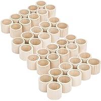 40 unidades Forma recta Madera servilleteros mesa boda accesorios