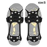 Acutty 1 Paire Crampons Anti-dérapant 10 Crampons de Glace de Traction pour Chaussures Bottes randonnée en Plein air Escalade