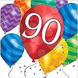 Zum 90. Geburtstag Ballon Blast Servietten Badger Inks Tonerpatronen