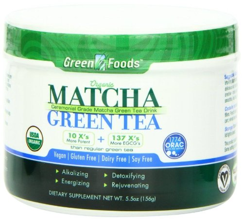 Orgánica té verde Matcha, 5,5 oz (156 g) - Green Foods Corporation