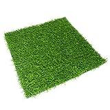 N/A 1 Stück Kunstrasenmatte Grasmatte Rasenteppich Kunstrasen quadratisch grün ca. 38cm x 38cm