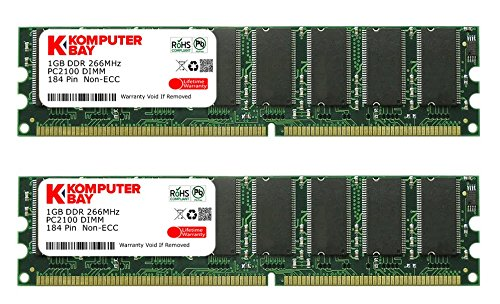 Komputerbay 2gb ( 2 X 1gb ) Ddr Dimm (184 Pin) 266mhz Ddr266 Pc2100 Desktop Memory Kit