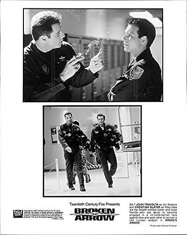 Vintage Photo de John Travolta Et Christian Slater dans un Reste de la Film