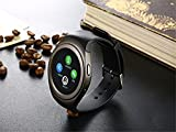 Captcha Black T11 Bluetooth Smartwatch Support SIM Card Compatible with Xiaomi Mi, Lenovo, Apple, Samsung, Sony, Oppo, Vivo and ALL other Smartphones (1 Year Warranty, Color May Vary)