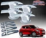 #3: Auto Pearl - Premium Quality Chrome Handle Bowl Insert Trim Cover For - Maruti Suzuki New Swift