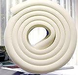 Minkoll Tischkante Streifen, Baby Ecke Schutzleiste 2M Foams Kollisionskissen Protector Strip (Cremy weiß)