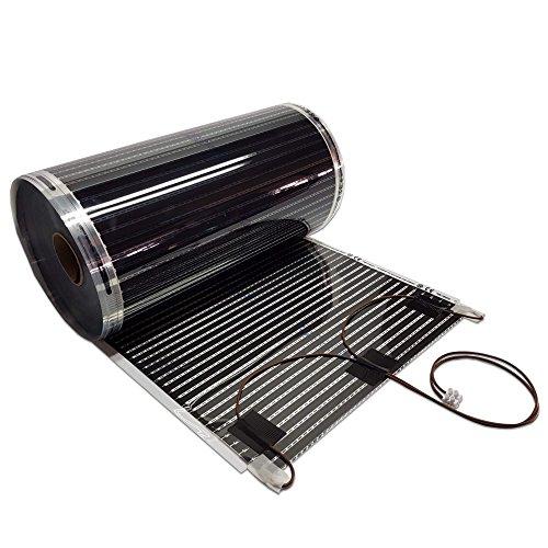 Spiegelheizung nach Maß Heizfolie Antibeschlagheizung für Spiegel anschlussfertig 150 Watt / lfm - 50 cm Breit 90 cm Lang