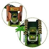 Car Track mit 2 Dinosaurier und Auto Rennbahn Spiel Set Montage Spielzeug für Kinder ab 3 4 5 Jahre - 8