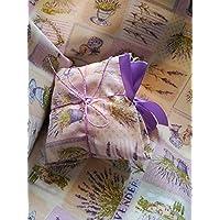 Saco térmico desenfundable en funda de loneta con motivo de lavanda. (30_cm) Relleno