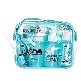 Dreameryoly - Set di 10 contenitori per Cosmetici, da Viaggio, in plastica Blau.