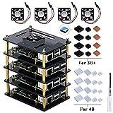 para Raspberry Pi 4 Model B,Raspberry Pi 3 B + Caja con Ventilador de...