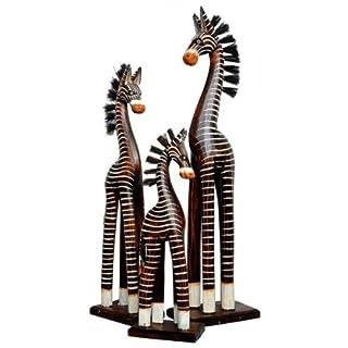 Holz-Zebra Deko-Zebra im 3-er Set, 30, 40 und 50 cm